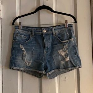 Express Distressed Jean Shorts - Size 6